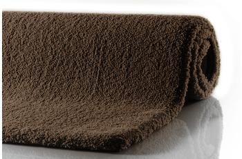 RHOMTUFT Badteppich SQUARE/ ASPECT mocca 55 x 60 cm WC-Vorleger halbrund mit Ausschnitt