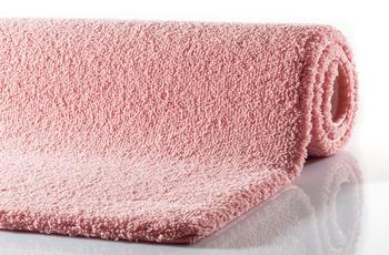 RHOMTUFT Badteppich SQUARE/ ASPECT rosenquarz 55 x 60 cm WC-Vorleger halbrund mit Ausschnitt