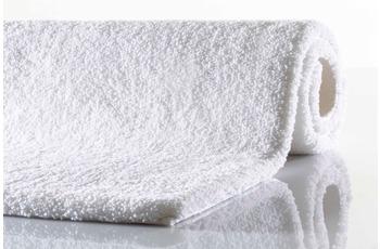 RHOMTUFT Badteppich SQUARE/ ASPECT weiß 55 cm x 60 cm WC-Vorleger (oval)