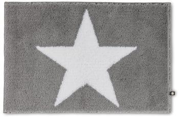 RHOMTUFT Badteppich STAR edelstahl/ weiß 50 x 65 cm