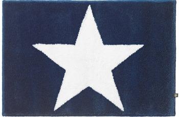 RHOMTUFT Badteppich STAR kobalt/ weiss