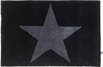 RHOMTUFT Badteppich STAR schwarz/ graphit 70 cm x 150 cm