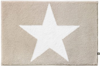 RHOMTUFT Badteppich STAR stone/ weiss 70 cm x 150 cm