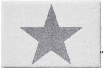 RHOMTUFT Badteppich STAR weiss/ edelstahl 70 cm x 150 cm