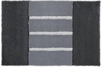 Rhomtuft Badteppich STEP zink/ blei/ perlgrau 50 cm x 65 cm