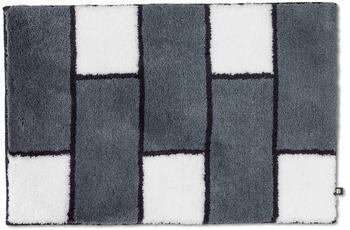 RHOMTUFT Badteppich STONE zink/ weiß/ schwarz 50 x 65 cm