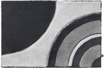 Rhomtuft Badteppich SWOOP zink/ perlgrau/ kiesel