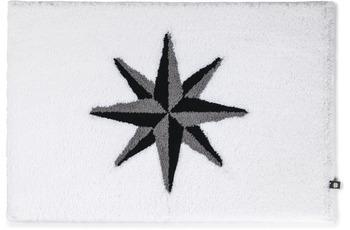 RHOMTUFT Badteppich WINDROSE silbergrau/ schwarz/ perlgrau 50 x 65 cm