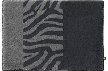 RHOMTUFT Badteppich ZEBRA zink/ kiesel 70 cm x 150 cm