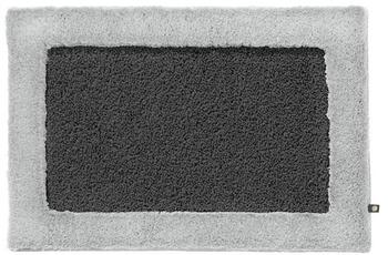 Rhomtuft Badteppich ORIGO zink/ silbergrau 65 cm x 110 cm