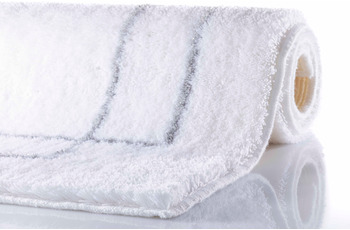 RHOMYhome Badteppich CLASSIC weiß/ silber