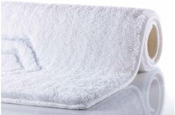 RHOMYhome Badteppich ELEGANCE weiß/ silber 65x115 cm