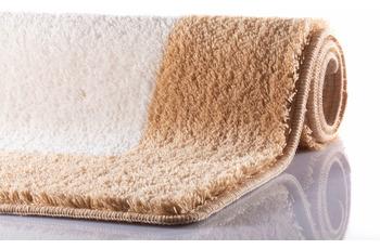 RHOMYhome Badteppich LIBERTY beige/ weiß 65x115 cm