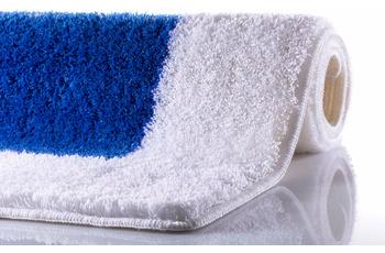 RHOMYhome Badteppich LIBERTY weiß/ blau 65x115 cm