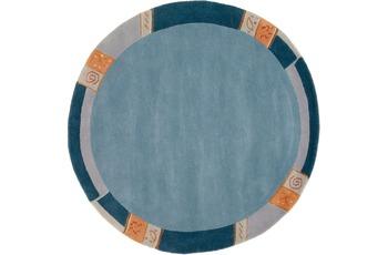 Luxor Living Nepal-Teppich, Manali 101 blau 200 cm rund