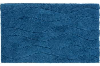 Schöner Wohnen Badteppich Santorin D. 002 C. 020 Welle blau