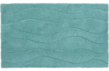 Schöner Wohnen Badteppich Santorin D. 002 C. 023 Welle hellblau