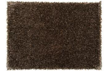 Schöner Wohnen Hochflor-Teppich, Feeling, braun, 55 mm Florhöhe