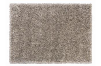 Schöner Wohnen Hochflor-Teppich, Feeling, creme, silber, 55 mm Florhöhe, 55 mm Florhöhe
