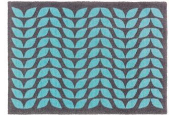 Schöner Wohnen Fussmatte Brooklyn Blätterreihe blau 66x110