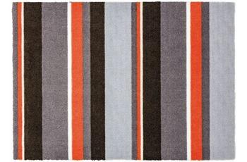 Schöner Wohnen Fussmatte Brooklyn Streifen grau-orange 66x110