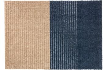 Schöner Wohnen Fußmatte Manhattan Design 003, Farbe 022 Streifen dunkelblau