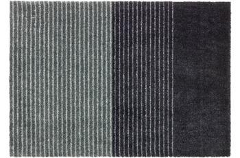 Schöner Wohnen Fußmatte Manhattan Design 003, Farbe 044 Streifen anthrazit-grau 50 x 70 cm