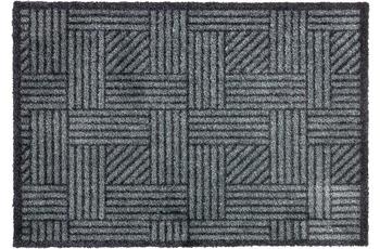 Schöner Wohnen Fußmatte Manhattan Design 004, Farbe 040 Streifengitter anthrazit-grau 50 x 70 cm