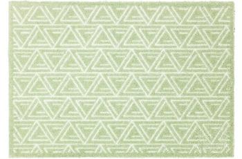 Schöner Wohnen Fußmatte Manhattan Design 005, Farbe 037 Triangle mint