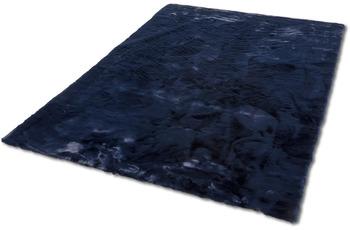 Schöner Wohnen Teppich Tender Design 190 Farbe 021 nachtblau 120 cm rund