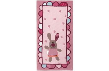 Sigikid Kinder Teppich, 3 Happy Friends, Hearts SK-3350-01kl rosa/ pink