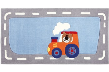 Sigikid Kinder Teppich, Happy Street, Traffic SK-3346kl blau