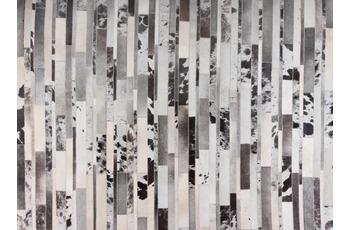 talis teppiche Lederteppich LEATHER Des. 1405 schwarz/ weiß 200 x 300 cm