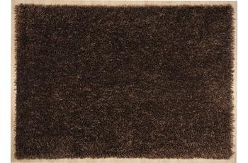 THEKO Hochflor-Teppich Girly uni choco 85 cm x 155 cm