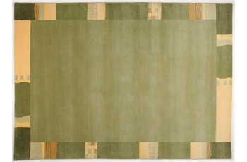 THEKO Nepalteppich - Avanti - grün 80cm x 200cm
