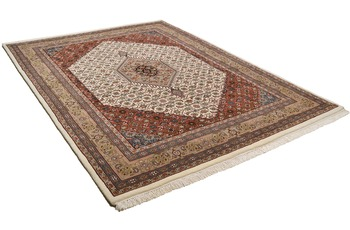 Oriental Collection Bidjar-Teppich Zeynal Premium Collection creme/ braun 40 cm x 60 cm