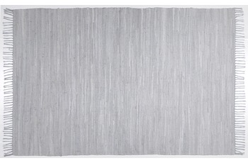 THEKO Teppich Happy Cotton, UNI, grau 60cm x 120cm