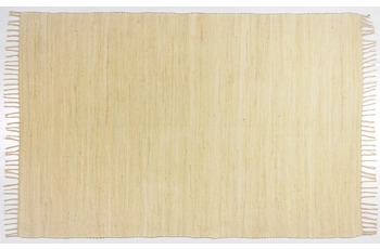 THEKO Handwebteppich Happy Cotton uni natural 40 cm x 60 cm