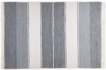 THEKO Handwebteppich Happy Design, Stripes, anthracite 60cm x 120cm