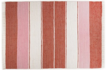 THEKO Handwebteppich Happy Design Stripes rot 60 cm x 120 cm