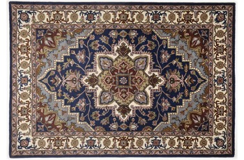 Oriental Collection Heriz Teppich Royal blue 150 cm rund