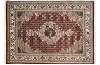 THEKO Teppich Sirsa Mahi Silk touch Tabriz Ma 562 rot /  creme 90 x 160 cm