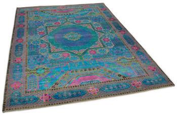 THEKO Orienteppich Hindustan Super Oxid 4467.1 blue multi 172 x 240 cm