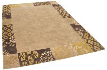 THEKO Nepalteppich Talonga Silk RSK495 beige /  brown