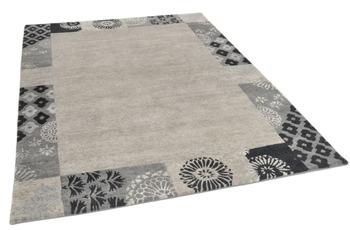 THEKO Nepalteppich Talonga Silk RSK495 grey multi