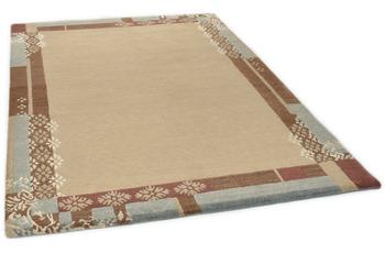 THEKO Nepalteppich Talonga Silk RSK526 beige multi