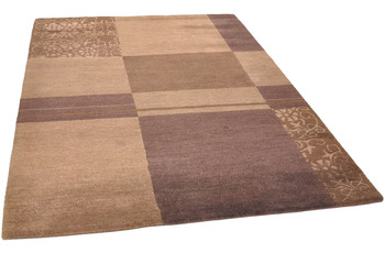 THEKO Nepalteppich Talonga Silk RSK545 brown multi