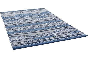 THEKO Nepalteppich Talonga Silk RSK686 blue multi