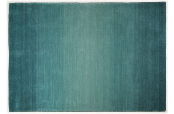 THEKO Teppich Wool Comfort, Ombre, turquoise