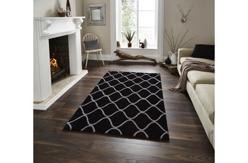 Think Rugs Wollteppich Elements EL 65 Schwarz